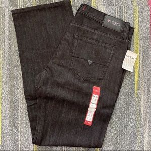 NWT! Mens Guess Jeans black 34x32 relaxed straight